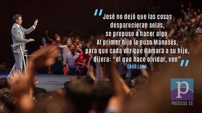 Cash Luna predicando sobre la necesidad de dejar atras el pasado